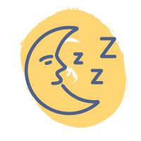 moon sleeping