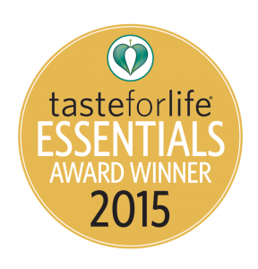 tasteforlife essentials award winner 2015